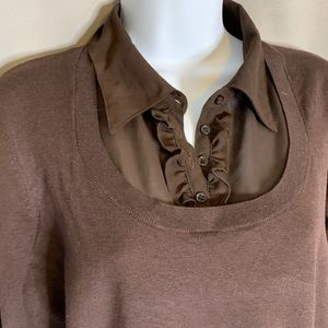 Brown Layered Sweater